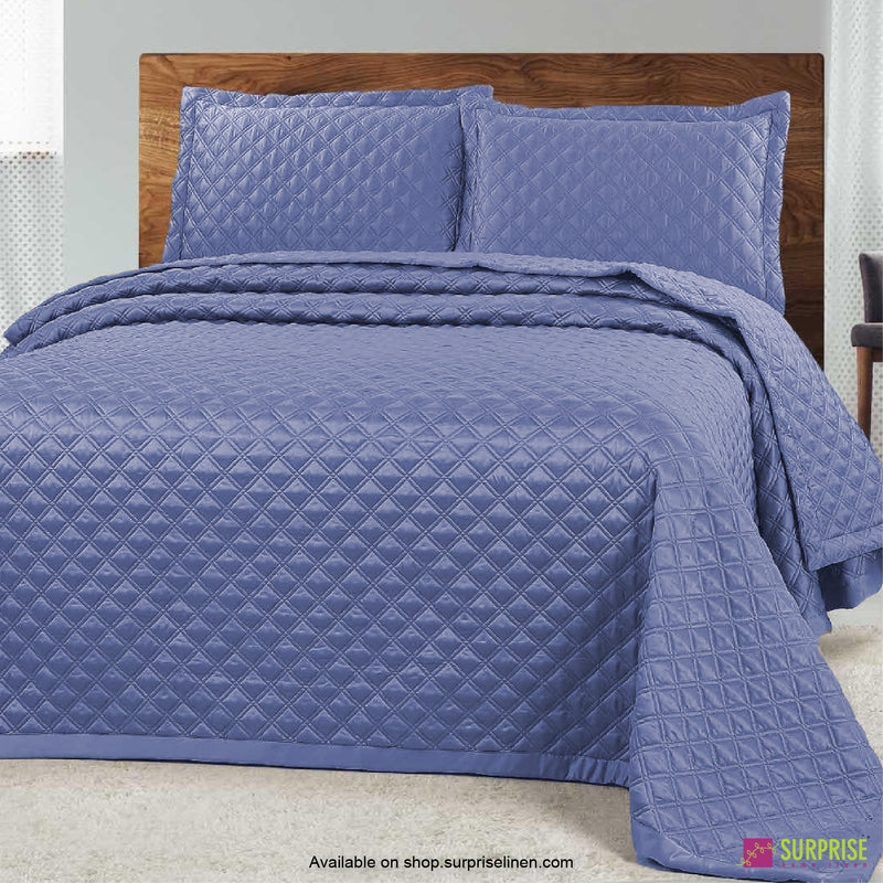 Surprise Home - Luxe 3 Pcs Quilted Bed Cover Set (Purple)