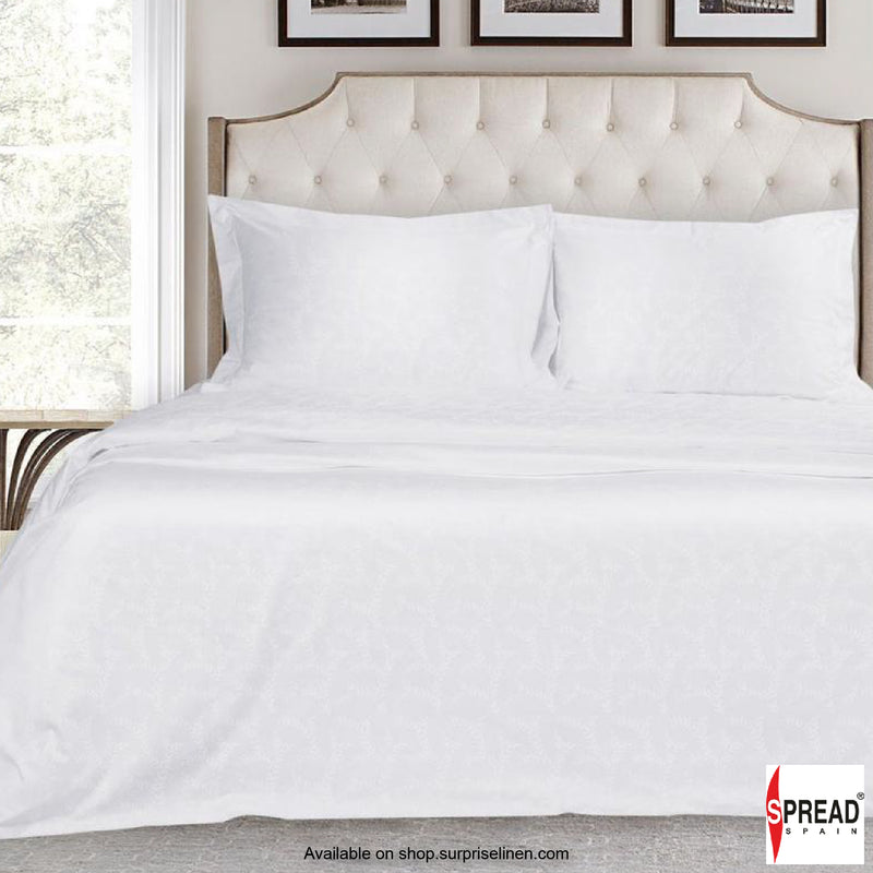 Spread Home - 500 Thread Count Cotton Bedsheet Set - White Mimosa