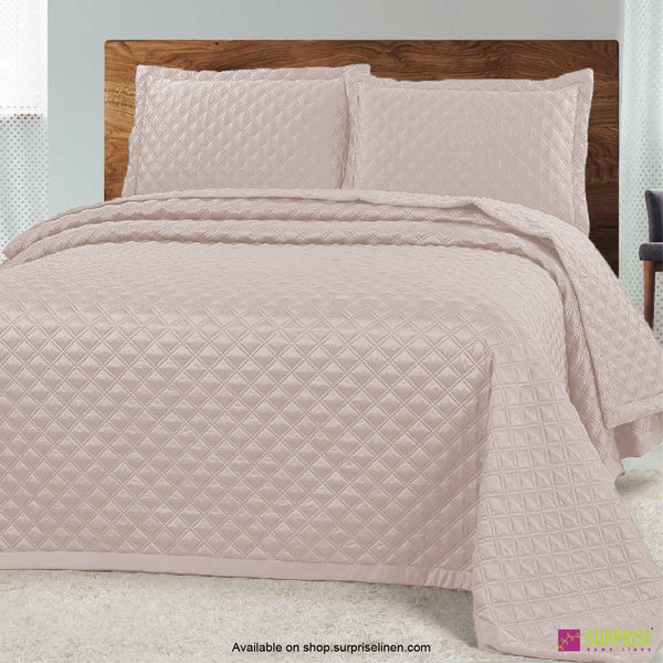 Surprise Home - Luxe 3 Pcs Quilted Bed Cover Set (Cream)