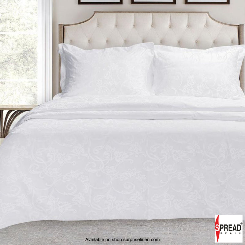 Spread Home - 500 Thread Count Cotton Bedsheet Set - White Renaissance