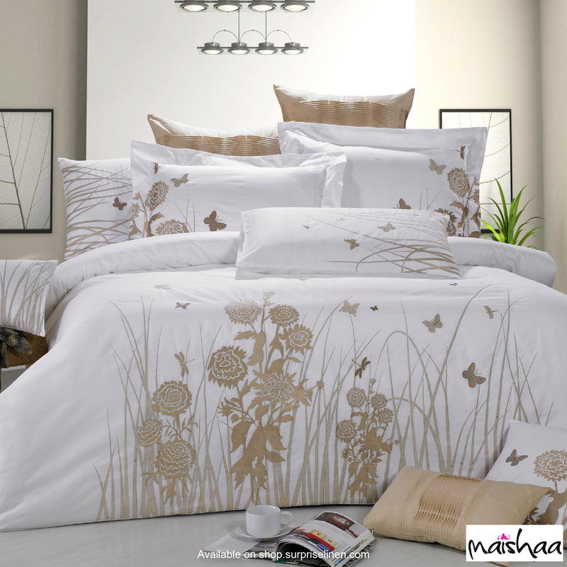 Maishaa - Thread Art Collection Bed Sheet Set (Carnation Beauty)