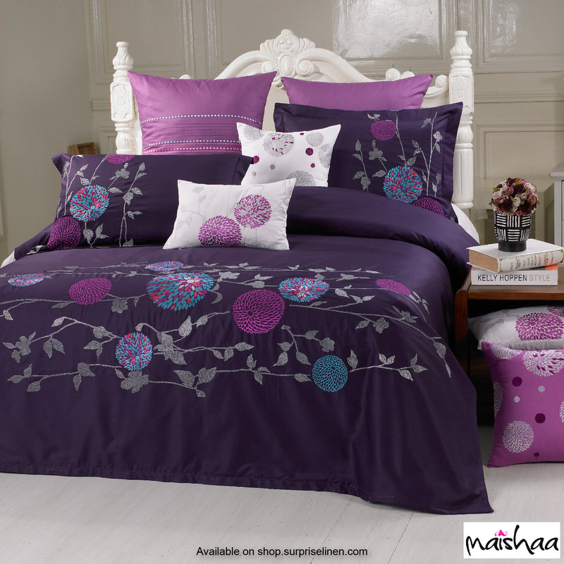Maishaa - Thread Art Collection Bed Sheet Set (Blooming Splendour)