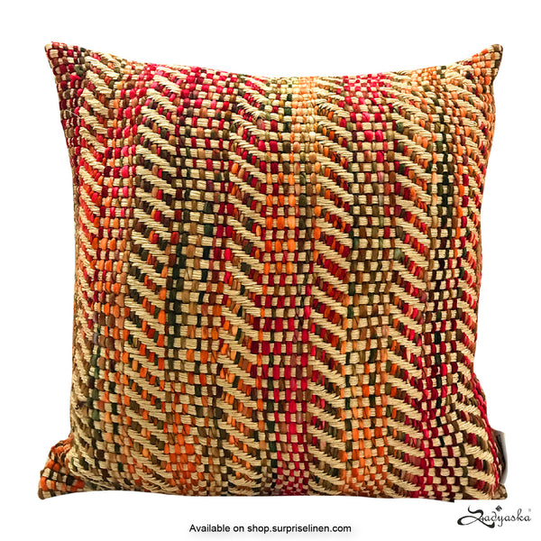 Sadyaska - Entwine Woven Cushion Cover (Multicolour)