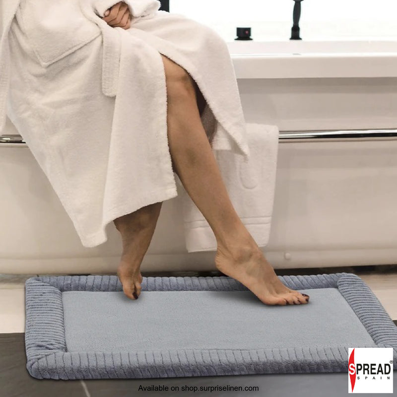 Spread Home - Anti Slip Memory Foam Bath Carpet (Grey)