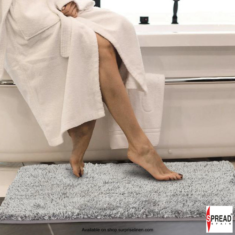 Spread Home - Premium Anti Slip Micro Fiber Bath Rug (Ice Grey)