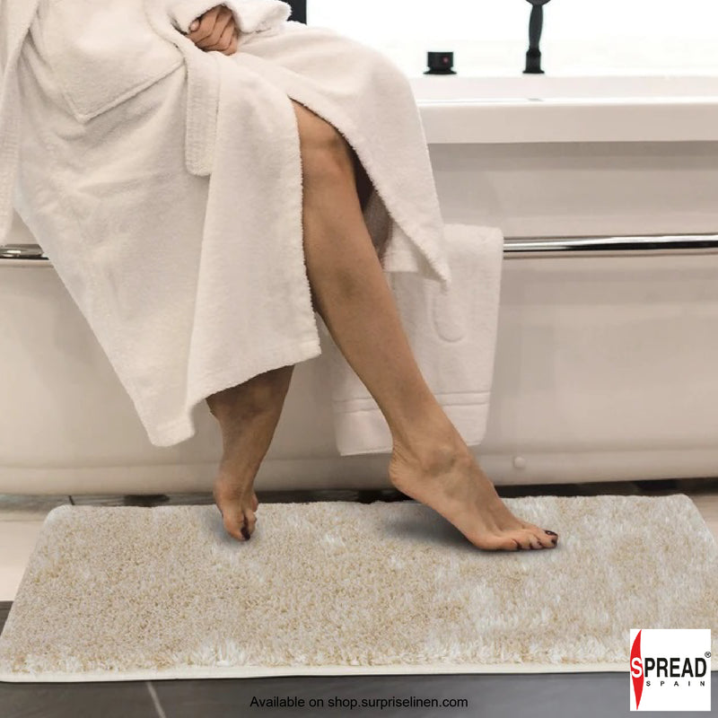 Spread Home -Anti Slip Micro Fiber Bath Rug (Beige)