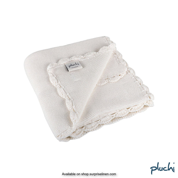 Pluchi - Aylin Cotton Knitted AC Baby Blanket (Ivory)