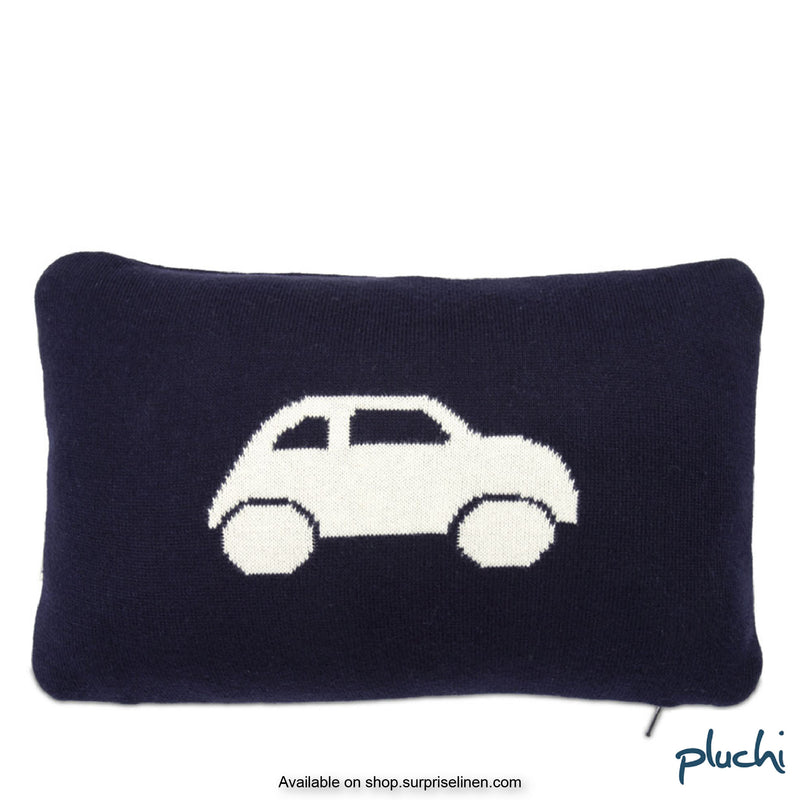 Pluchi - Car Cotton Knitted Baby Cushion Cover (Dark Navy)