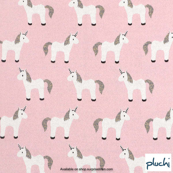 Pluchi - My Little Unicorn Cotton Knitted AC Baby Blanket (Pink)