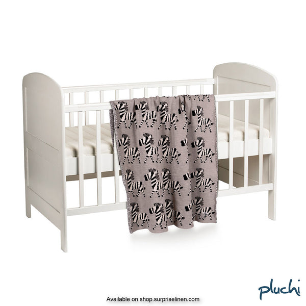 Pluchi - Zylish Cotton Knitted AC Baby Blanket (Pale Whisper)