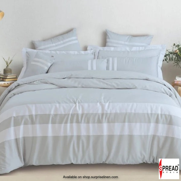 Spread Home - Botanic Cotton 550 Thread Count Bedsheet Set - Light Grey