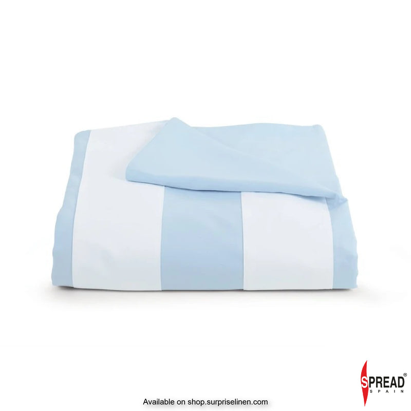 Spread Home  - Botanic Cotton 550 Thread Count Bedsheet Set- Sky Blue