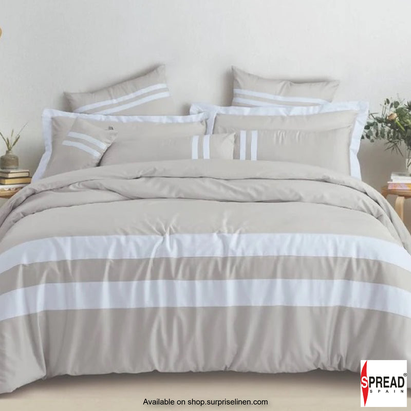 Spread Home - Botanic Cotton 550 Thread Count Bedsheet Set - Sand