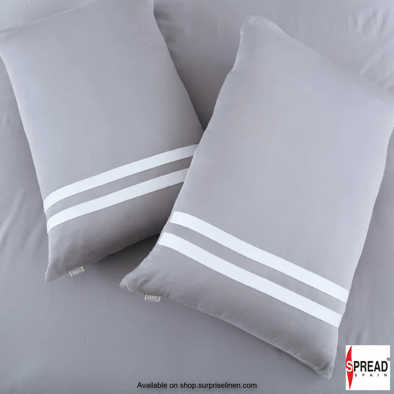 Spread Home - Botanic Cotton 550 Thread Count Cotton Dohar - Steel Grey