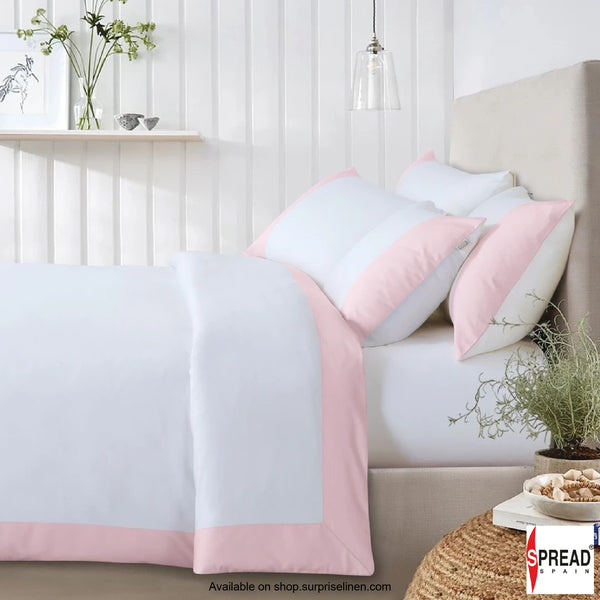 Spread Home - Botanic Cotton 550 Thread Count Lakeside Quilt Cover (Pink)