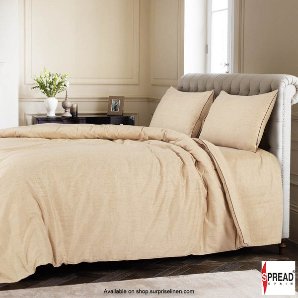 Spread Home - Grain De Glace 400 Thread Count Duvet Cover (Beige)