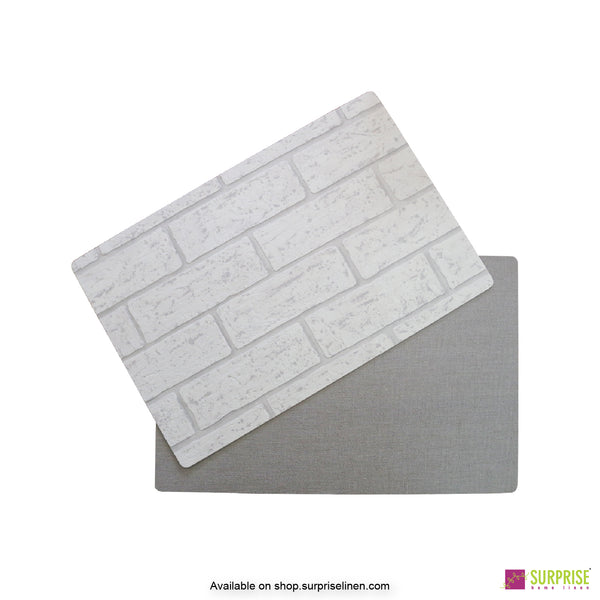 Surprise Home - Papel Table Mats 6 pc Set (Brick Grey)