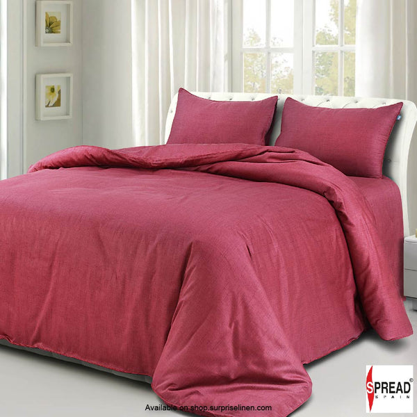 Spread Home - Grain De Glace 400 Thread Count Duvet Cover (Burgandy)