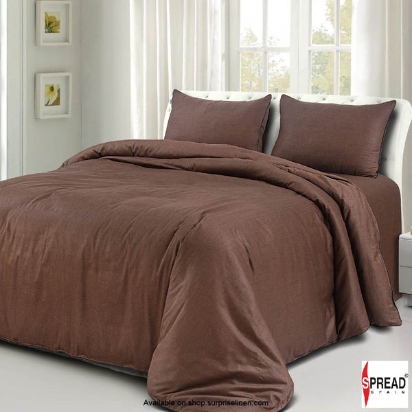Spread Home - Grain De Glace 400 Thread Count Duvet Cover (Choco)