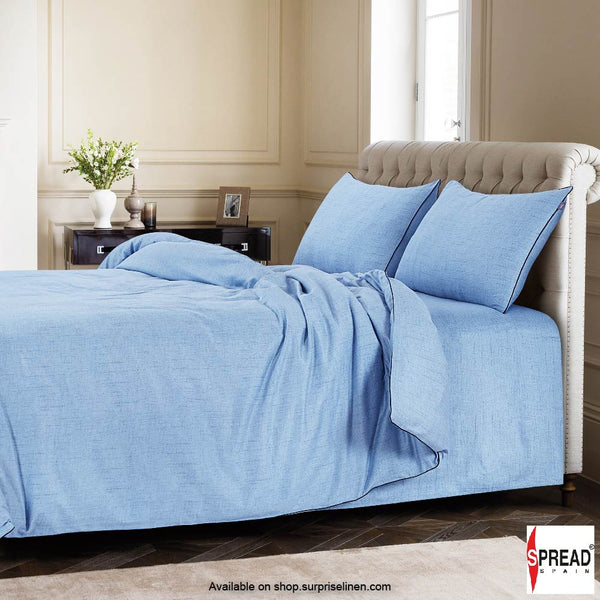 Spread Home - Grain De Glace 400 Thread Count Duvet Cover (Denim)