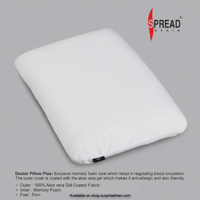 Spread Home - Doctor Plus Pillow for Cervical Memory Foam (Medium Size ) Pillow-Neck Support for Back Or Shoulder Pain