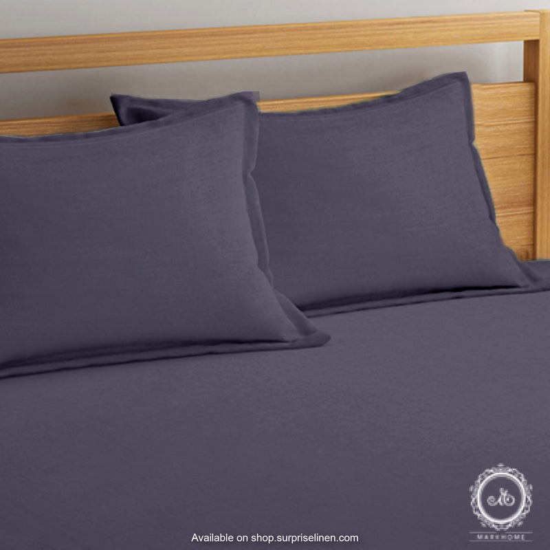 Mark Home - 100% Organic Cotton Percale 200 TC King Size Bedsheet Set (Blue)