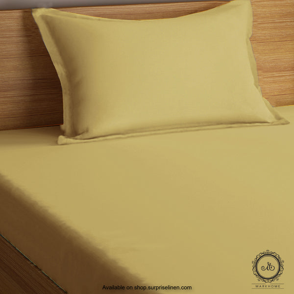 Mark Home- 100% Organic Cotton Percale 200 TC Single Bedsheet Set (Brown)
