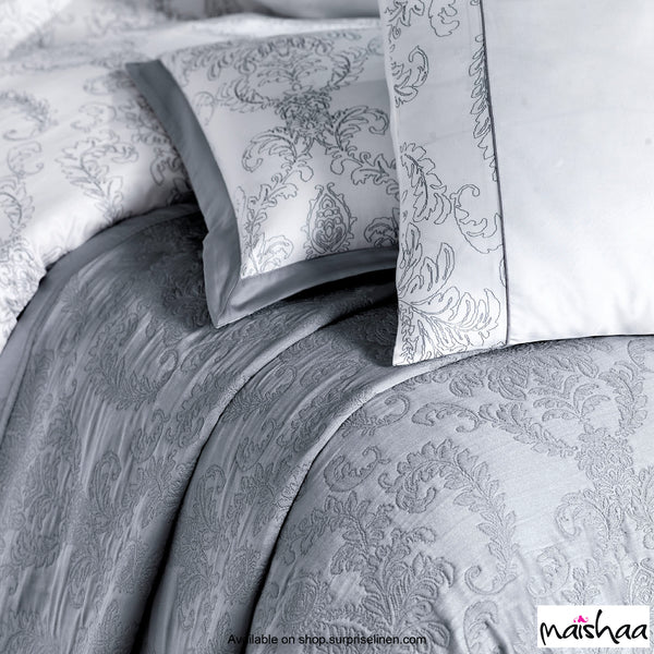 Maishaa - Metallica Collection Felicita Duvet Cover (White & Grey)