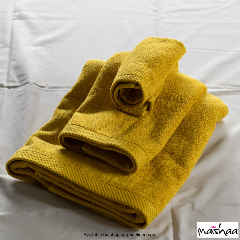 Maishaa - Modal Collection Mustard Hand Towel