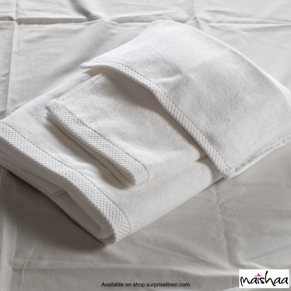 Maishaa - Modal Collection White Bath Towel