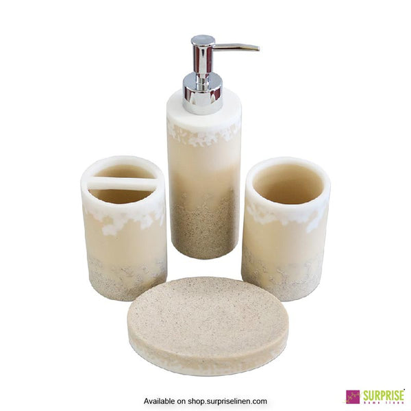 Surprise Home - Exclusive Series 4 Pcs Bath Set (Ivory)