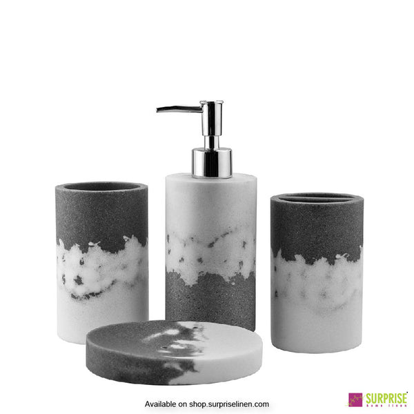 Surprise Home - Exclusive Series 4 Pcs Bath Set (Grey)