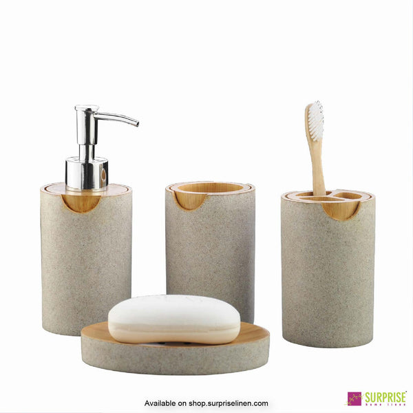 Surprise Home - Recto Series 4 Pcs Bath Set (Cream & Honey)