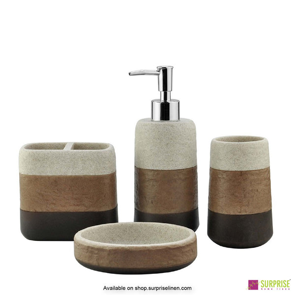 Surprise Home - Recto Series 4 Pcs Bath Set (Bronze)