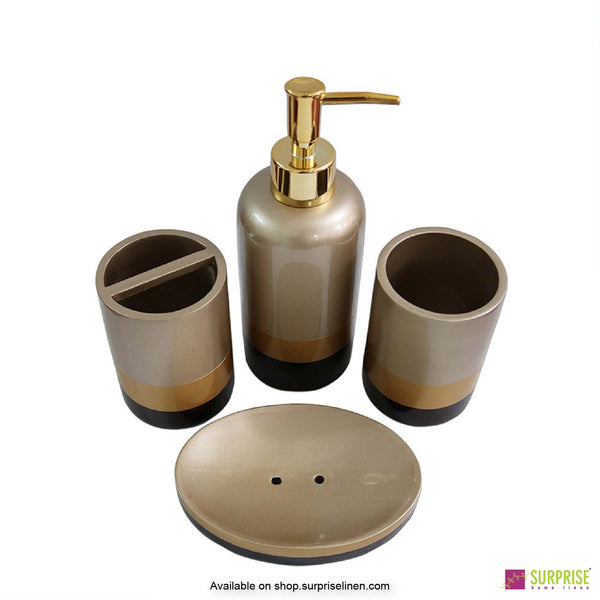Surprise Home - Recto Series 4 Pcs Bath Set (Gold)