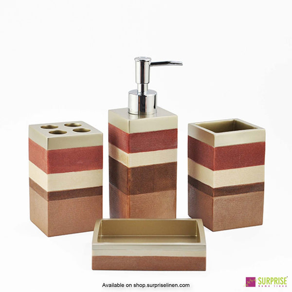 Surprise Home - Recto Series 4 Pcs Bath Set (Rust Pink)