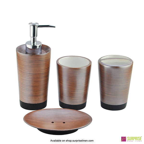 Surprise Home - Primo Series 4 Pcs Bath Set (Cocoa)