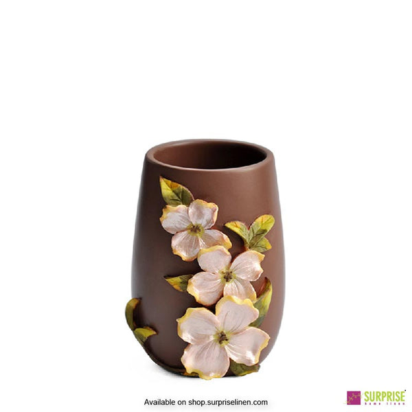 Surprise Home - Flora Series 4 Pcs Bath Set (Bunchberry Brown)