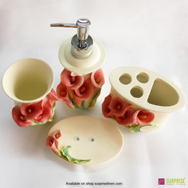 Surprise Home - Flora Series 4 Pcs Bath Set (Calla Lily)