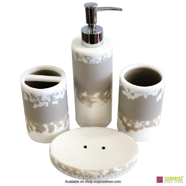 Surprise Home - Exclusive Series 4 Pcs Bath Set (Light Grey)