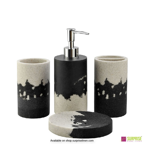 Surprise Home - Exclusive Series 4 Pcs Bath Set (Charcoal)