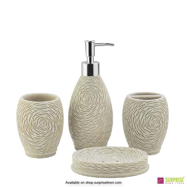 Surprise Home - Cube Series 4 Pcs Bath Set (Swirl Ivory)