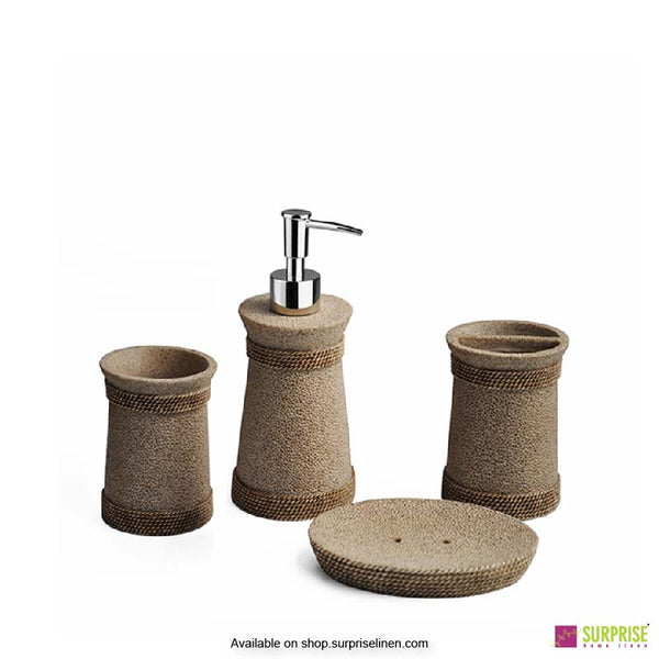 Surprise Home - Cube Series 4 Pcs Bath Set (Grainy Beige)