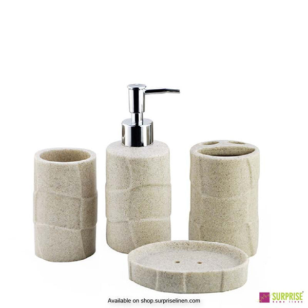 Surprise Home - Cube Series 4 Pcs Bath Set (Off White)