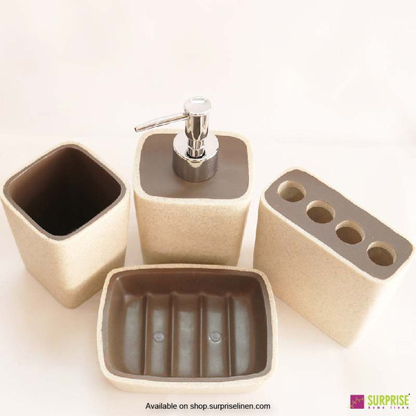 Surprise Home - Cube Series 4 Pcs Bath Set (Light Grey)