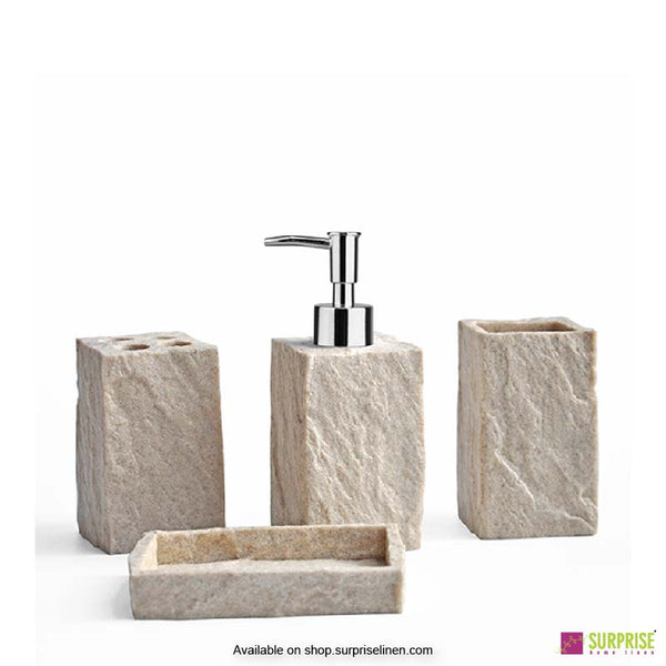 Surprise Home - Cube Series 4 Pcs Bath Set (Sandstone Grey)