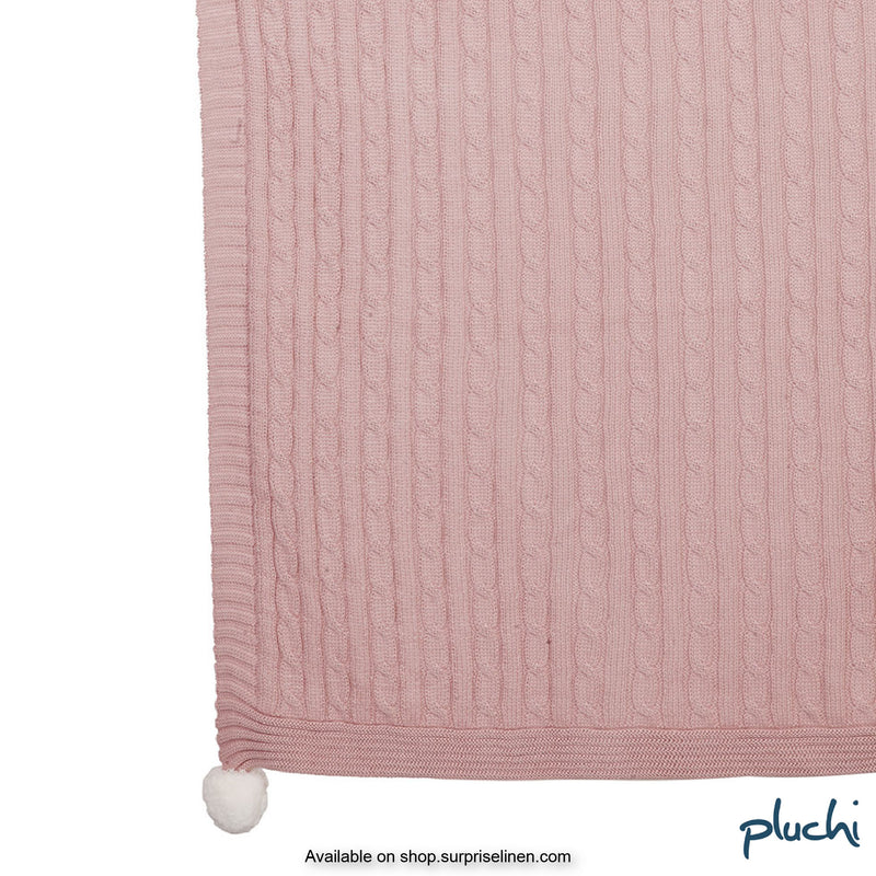 Pluchi - Jigglypuff Cotton Knitted Kids AC Blanket (Pearl Pink)