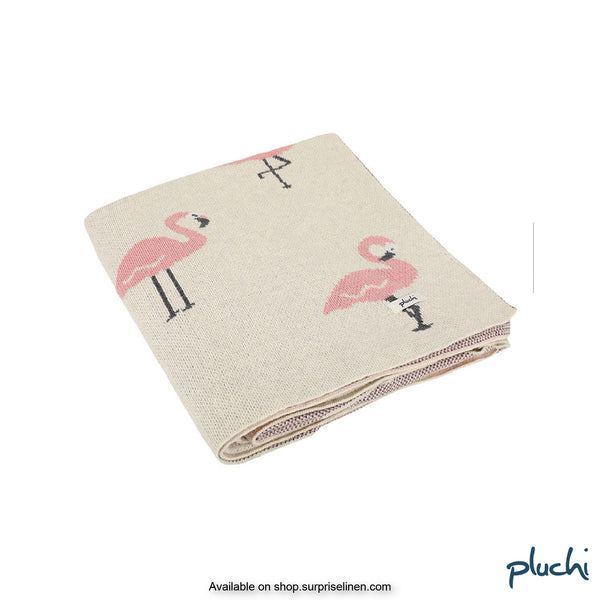 Pluchi - Wounderour Flamingo Cotton Knitted Kids AC Blanket (Blossom)