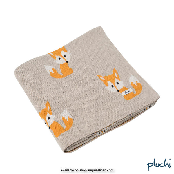 Pluchi - Fox Cotton Knitted Kids AC Blanket (Pale Orange)