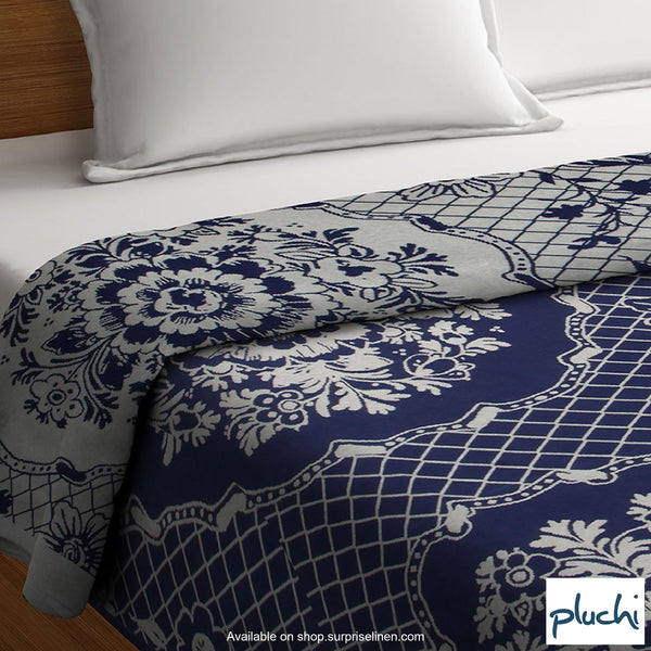 Pluchi - Zainabu Cotton Knitted AC Blanket (Marine)